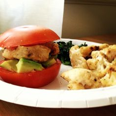 tomato bun for chicken avocado sandwich
