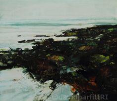 'Caerfai shoreline' acrylic David Parfitt RI www.davidparfitt-art.co.uk