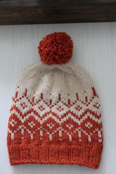 Kirjava pipo Knit Crochet, Crochet Hats, Fair Isle Knitting, Yarn Projects, Crochet Accessories, Baby Booties, Knitted Hats, Knitting Patterns, Red And White