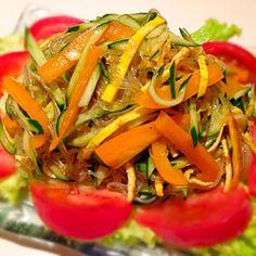 ゴマ散らすの忘れちゃったけど  野菜いろいろ入れて凄く美味しかった〜 - 92件のもぐもぐ - かな775さんの料理 お酢でさっぱり春雨サラダ by yummin