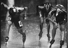 """Ser desafiado en la vida es inevitable, ser derrotado es opcional."" - Roger Crawford #GymBont #BontSuramerica Skating Rink, Roller Skating, Inline Speed Skates, Inline Skating, Wheels, Poses, Sport, Roller Blading, Rolling Skate"