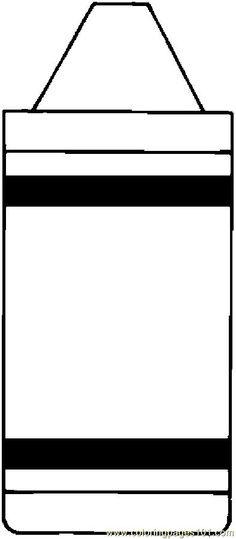 color crayon template printable - Printable Colouring Page