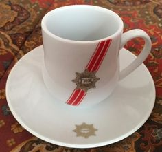 Trans World Airlines cup and saucer.  Ambassador pattern by ABCO International.  Date 1981 - late 1990s.