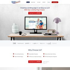 New design for existing Landing Page Creator website by Webwooter