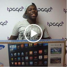 ¡Felicidades a Wilton Lar France! Cliente del Banco Popular Dominicano que usando #tPago ganó un televisor Samsung #tPagotPremia