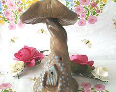 Fairy Haus Pixie Fliegenpilz Home, Skulpturen original Miniatur. Für Ihr Zuhause oder Feengarten. Ideal zum Geburtstag oder Strumpf Füller!