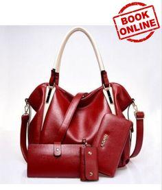 CheapestHandbags European Style Newly Simple Four Pieces Single Shoulder Bag  Handbags Red European Style e98123ba68bf3