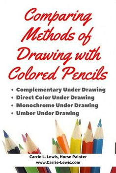 Color Pencil Drawing Comparing Methods of Drawing with Colored Pencils - Comparing colored pencil drawing methods: Description of basic drawing methods with illustrations for each method and tips on how to use them. Pencil Painting, Color Pencil Art, Watercolor Pencils, Watercolor Trees, Watercolor Portraits, Watercolor Landscape, Abstract Landscape, Basic Drawing, Drawing Tips