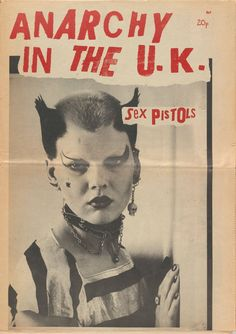 Soo Catwoman on the cover of Anarchy in the U.K. in 1977 by Jamie Reid, Sophie Richmond, and Vivienne Westwood
