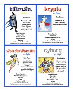 More invite ideas for the super hero themed kids birthday party