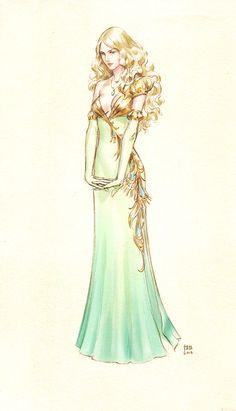 new dress by kir-tat possivel futura personagem... pensar em uma história pra ela.
