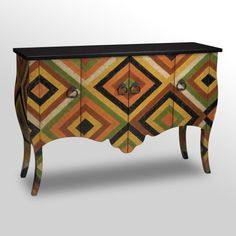 African Print Chest