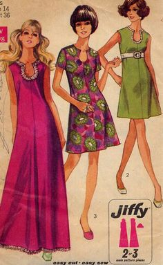 Vintage Illustration   >   I think my mum made that dress for me!