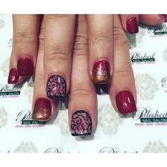 """""""Fabulous #FallNails #handpaintednailart with a touch of foil and gold shimmer. #autumnNails  #nailswag #nailart #naildesign #instanails #nailsokc #okcnails #yukonsbest #okcBest #okc #nails #nailaddict  #nailie #Nailsalon #getpolished #bestManiPedi #BestFacial #polishednailsok #getPamperedAtPolished #NewNails #naillove #notd #nailsoftheday #nailartclub #polishednailsalon"""" Photo taken by @polishednailsok on Instagram, pinned via the InstaPin iOS App! http://www.instapinapp.com (11/18/2015)"""