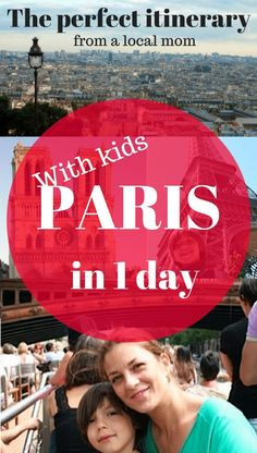 Paris with kids in 1 day: a perfect itinerary from a local mom to get the most out of your short stay. From the historic center of Paris through the Left Bank side, among some of Parisian's families favorite spots, gardens and museums.