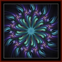 Cross Stitch Collectibles - Detail1 - FR-470 - Fractal 470 - All cross stitch patterns - Abstract - Fractals - Graphic Art - - Whimsical - Cross Stitch Collectibles