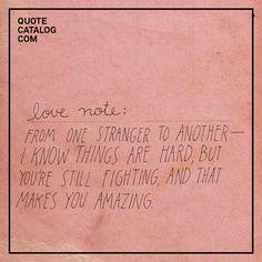 love note | strangers