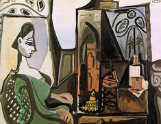 Jacqueline at the studio - Pablo Picasso