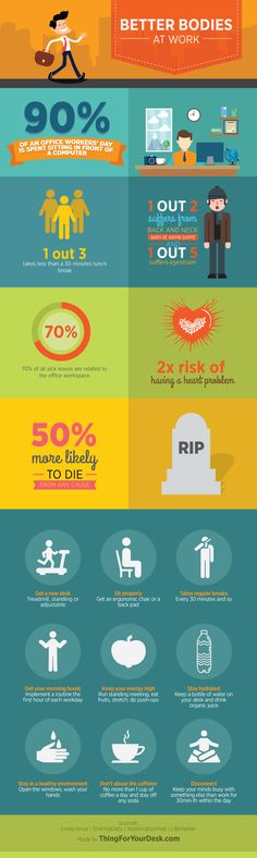 healthy in the office - infographic