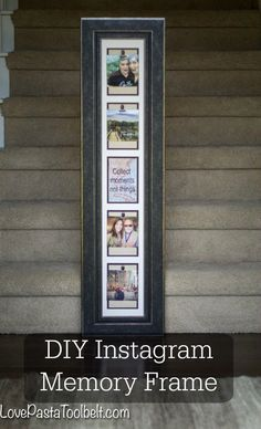 Display your Instagram photos in your home with this fun and easy to make DIY Instagram Memory Frame- Love, Pasta and a Tool Belt | DIY | Crafts | Craft Ideas |