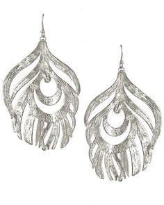Karenina Feather Earrings in Rhodium - Earrings - Kendra Scott Jewelry