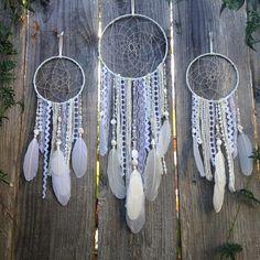 Custom White Dreamcatcher Boho Decor Dream by InspiredSoulShop