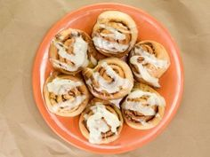 I like the idea of a short rise time so I don't have to try to plan ahead the night before. Pecan Cinnamon Rolls from CookingChannelTV.com