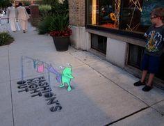Chalk Art By David Zinn Art Pinterest David Zinn Art And David - David zinns 3d chalk art adorably creative