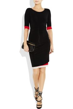 DONNA KARAN  Layered stretch crepe-jersey dress  $1295