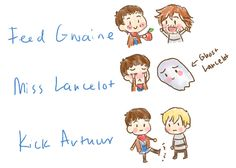 Ask Camelot : Merlin! Let's play FMK. Arthur, Gwaine, Lancelot. (all credits to askcamelot.tumblr.com)