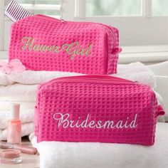 8069 - Bridal Party Embroidered Cosmetic Bag