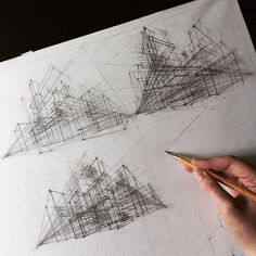 Hand Drawn Architectural Sketches by Adelina Gareeva - Reid - Architektur Architecture Student, Architecture Drawings, Architecture Design, Historical Architecture, Architect Logo, Architect House, Colossal Art, Perspective Drawing, Famous Architects