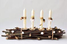 Zuzana Staňková: Přírodní adventní věnec Advent Wreath, Christmas Table Decorations, Homemade Gifts, Christmas Time, Diy And Crafts, Candles, Handmade, Home Decor, Christmas Decor
