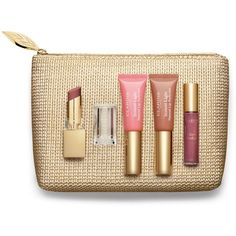 Clarins Colour your lips with Clarins Christmas gift set ($30) ❤ liked on Polyvore featuring beauty products, skincare, lip care, lip treatments, clarins and lip treatment