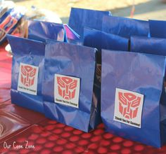 Transformers Party candy bags