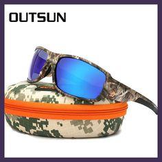 9951ce50dc OUTSUN 2017 Polarizadas Gafas de Sol Hombres Mujeres Deporte Conducción  pesca gafas de Sol de Diseñador de la Marca de Camuflaje Marco De Sol