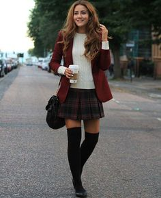 sweater knit top with mini skirt