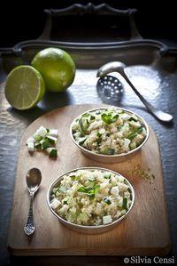 Quinoa con cetrioli e feta al profumo di menta