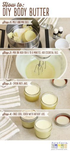 This simple DIY body butter would make the perfect gift for yourself or a friend. #diy #homemade