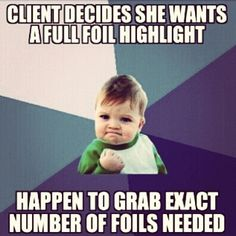 I feel like this every time it happens. True story. || Success kid || hair humor funnies || Paul Mitchell the School Overland Park