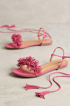Matiko Delilah Sandals Pink Sandals #anthrofave