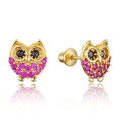 14k Gold Plated Brass Baby Red Owl Screwback Girls Earrin... http://www.amazon.com/dp/B018UY3MAM/ref=cm_sw_r_pi_dp_1rxixb1FTTB1P