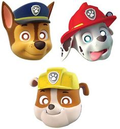 Paw Patrol party supplies - Lifes Little Celebration Paw Patrol Masks, Paw Patrol Party Supplies, Disposable Tableware, Paw Patrol Birthday, Mask Party, Birthday Party Themes, Boy Or Girl, Packing, Disney Characters