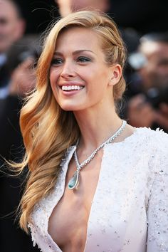 LaSNobs — neimanmarcus: We love Petra Nemcova's braided 'do...