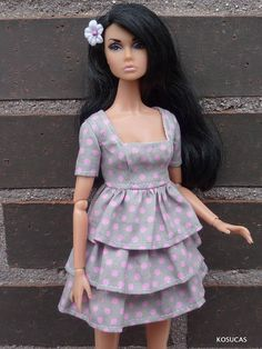 Dress for Barbie and Poppy Parker dolls.