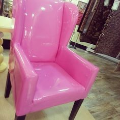 Pink chair<3 I have a pink chair similar to this & I am using it for my Vanity.
