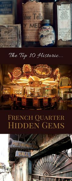 Scope them out all in one day, or tackle them a few at a time: these are the top 10 historic hidden gems in the French Quarter of New Orleans. New Orleans trip. New Orleans Vacation, New Orleans Travel, Nola Vacation, Vacation Ideas, New Orleans Trip, New Orleans Voodoo, Museums In New Orleans, Vacation Spots, New Orleans Bayou