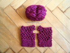 #crochet #halfgloves #magenta Half Gloves, Magenta, Crochet Earrings
