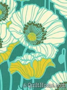 Notting Hill PWJD058-Teal Fabric by Joel Dewberry