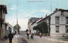 Fredrikstad, Nygaardsgaten,  kolorert kort tidlig 1900-tallet